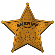 WESTERN CUTOUT SHERIFF BADGE 12INCH FOIL