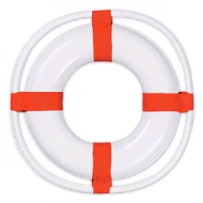 NAUTICAL DECORATION LIFE RING PLASTIC 23INCH