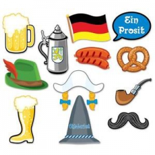 OCTOBERFEST PHOTO FUN SIGN 12PCS