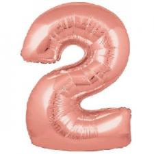 30 INCH FOIL ROSE GOLD NUMBER BALLOON 2