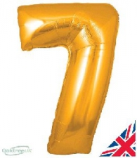 30 INCH FOIL GOLD NUMBER BALLOON 7