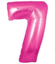 30 INCH FOIL PINK NUMBER BALLOON 7