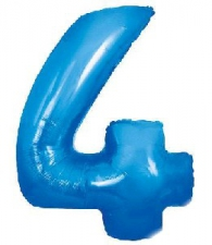 30 INCH FOIL BLUE NUMBER BALLOON 4