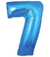 30 INCH FOIL BLUE NUMBER BALLOON 7