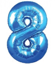 30 INCH FOIL BLUE NUMBER BALLOON 8