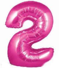 34 INCH FOIL PINK NUMBER BALLOON 2