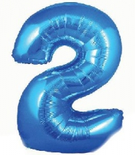 34 INCH FOIL BLUE NUMBER BALLOON 2