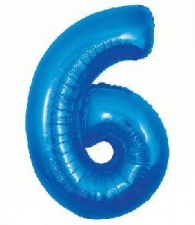 34 INCH FOIL BLUE NUMBER BALLOON 6