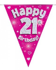BUNTING PINK 21ST