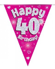 BUNTING PINK 40TH