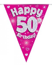 BUNTING PINK 50TH