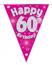BUNTING PINK 60TH