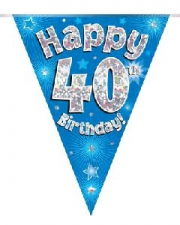BUNTING BLUE 40TH