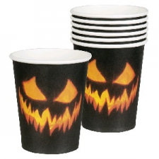 CREEPY PUMPKIN CUPS 6S