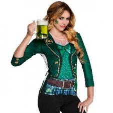 PHOTO REALISTIC ADULT TSHIRT IRISH LADY LARGE