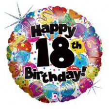18 INCH FOIL HAPPY 18TH BIRTHDAY BALLOON