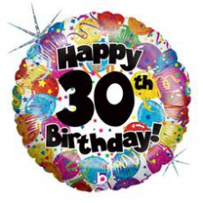 18 INCH FOIL HAPPY 30TH BIRTHDAY BALLOON
