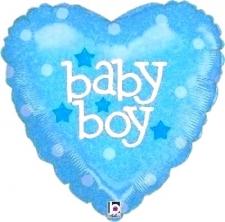 18 INCH FOIL BABY BOY BALLOON HEART