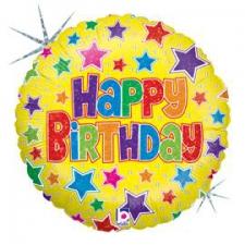 18 INCH FOIL HAPPY BIRTHDAY BALLOON BOLD STAR