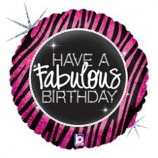18 INCH FOIL BIRTHDAY FABULOUS ZEBRA
