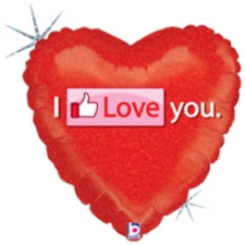 18 INCH FOIL VALENTINE THUMBS UP LOVE