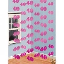 HANGING STRING PINK SHIMMER 40