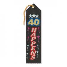 AWARD RIBBON 40 HAPPENS