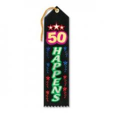 AWARD RIBBON 50 HAPPENS