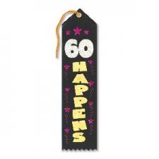 AWARD RIBBON 60 HAPPENS