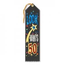 AWARD RIBBON LOOK WHOS 50