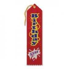 AWARD RIBBON BIRTHDAY STAR