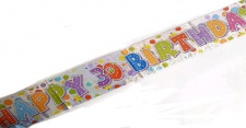BANNER HAPPY BIRTHDAY 30TH UNISEX