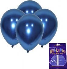 LATEX CHROME BALLOONS AZURE BLUE 10's
