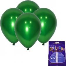 LATEX CHROME BALLOONS EMERALD GREEN 10's
