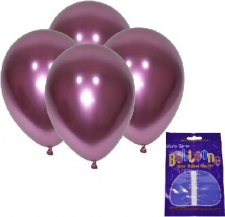 LATEX CHROME BALLOONS PINK FLAMINGO 10's