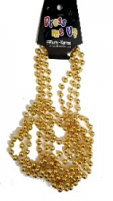 BEADS 84CM GOLD 3pcs