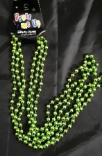 BEADS 84CM LIME GREEN 3pcs
