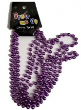 BEADS 84CM PURPLE 3pcs
