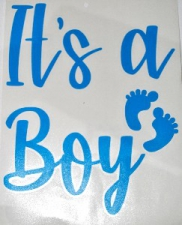 BALLOON STICKER IT'S A BOY L/BLUE