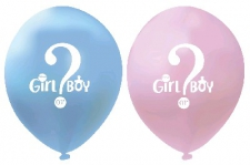 LATEX PRINTED BABY REVEAL BALLOONS 10'S