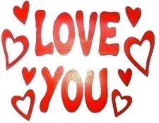BALLOON STICKER LOVE YOU 10'S