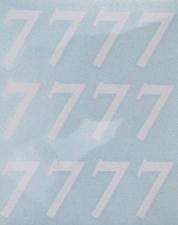 BALLOON STICKER WHT 6CM NUM 7