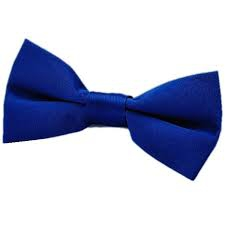 BOWTIE SATIN DARK BLUE