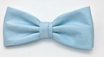 BOWTIE SATIN LIGHT BLUE