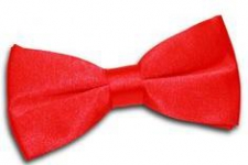BOWTIE SATIN RED