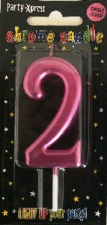 CANDLES CHROME PINK NUMBER 2