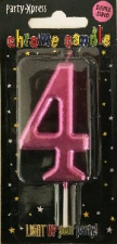 CANDLES CHROME PINK NUMBER 4