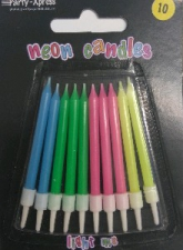 CANDLES NEON COLOURS 10'S