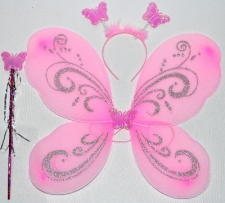 DRESS UP FAIRY WINGS PALE PINK