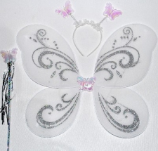 DRESS UP FAIRY WINGS WHITE